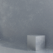 Decorative plaster. Metalic