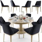 Grace Armless Chair Dining Set