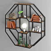 Decorative Octagonal Bookshelf