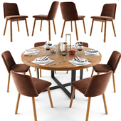 Chip Dining Table Chair Set