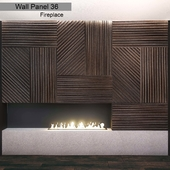 Wall Panel 36. Panel & Fireplace