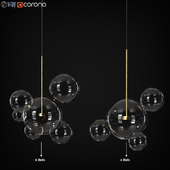 Suspension Light Giopato & Coombes Bolle 4 & 6 Lamp Set