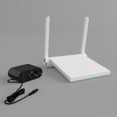 Xiaomi Mi WiFi mini router and power supply