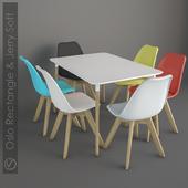 Стол Oslo Rectangle и стул Jerry Soft.