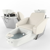 Maletti Mercury Air Massage wash unit with pedicure bowl