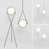 Dot Stance 13'' rotating floor lamp and pendant by Peter Bristol