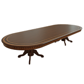 Dining table with veneer 06
