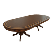 Dining table with veneer 05