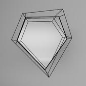 Mirror Wire Diamond Schwarz