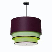 Elegant Center Contemporary Oval 3 Tiered Silk Drum Pendant