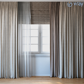 Curtains with Roman curtain and Telle set 02