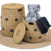 Dot Basket, Kairo Jute Rug, Elephant Toy