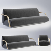 Andreu World Mansfred Sofa and Armchair
