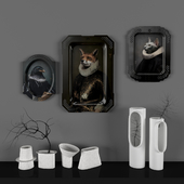Pictures of trays from Ibride and a set of vases from Harto