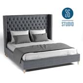OM Double bed model B06315 from Studio 36