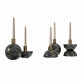 Decorative candlestick set