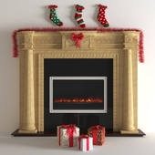 fireplace for christmas