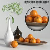 Декоративный набор с апельсинами