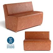 OM Leather sofa for kitchen model С637 from Studio 36