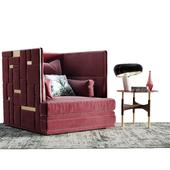 Velvet Armchair Set Decor