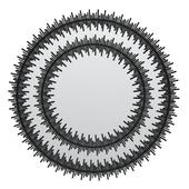 Kare Mirror Solare Black Ø132cm