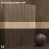 Материал дерево / шпон (бесшовный) - set 43