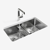 "KOHLER ""Strive"" under-mount double-equal kitchen sink"