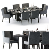 Bernhardt Linea Dining Set Brown
