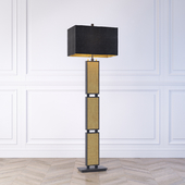 The David Hunt Lighting Collection CROC black & gold floor lamp