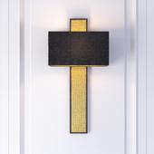 The David Hunt Lighting Collection CROC black & gold wall lamp