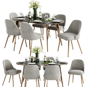 West Elm Dinning Set 3