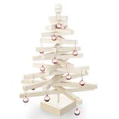Christmas tree made of wood