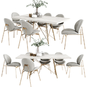 West Elm Dinning Set 4