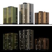 Набор многоэтажных домов 1