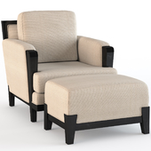 Astaire Lounge Chair and Ottoman
