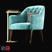 Кресло Eichholtz  Cyrus / Журнальный столик Eichholtz  Paladin