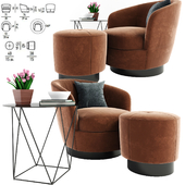 Minotti Jacques Armchair With Table