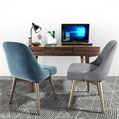 West Elm Mid-Century Office Chair Desk Set