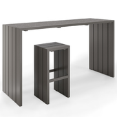 Sutherland, Samos Bar Table and Stool