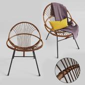 Rohe Noordwolde rattan vintage chair
