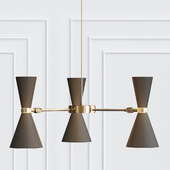Cairo Three-Arm Contemporary Chandelier
