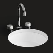 """KOHLER """"Verticyl"""" round under-mount bathroom sink"""