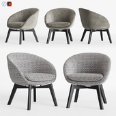 Minotti Russell Little Lounge Fixed Armchair