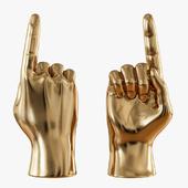 Gold figurine hand