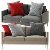 Crate and Barrel / Studio Series Customizable Loveseat