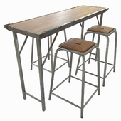 Chehoma. Set of 3 bar stools Team and Folding console table Game time