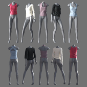 Women's clothing with mannequins 4