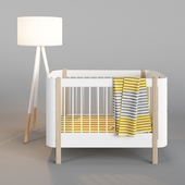 Wood Mini + Basic Bed And Zuiver Highland Floor Lamp