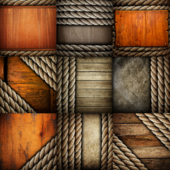 Old Wood Plank with Rope Texture