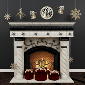 Fireplace classic Christmas. Fireplace classic christmas